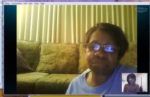 Mom & Me Skyping.