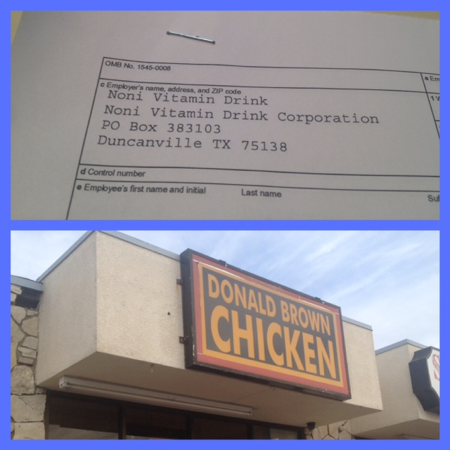 Donald Browns Chicken FRAUD
