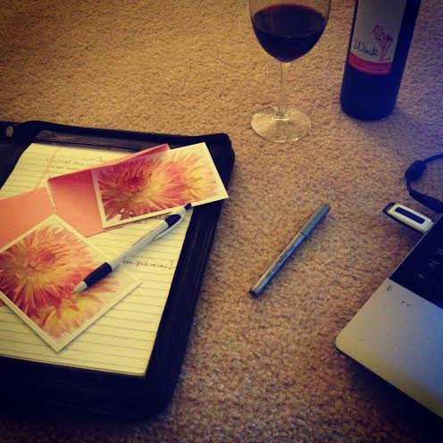Preparing My Handwritten Thank You Cards from My Interview